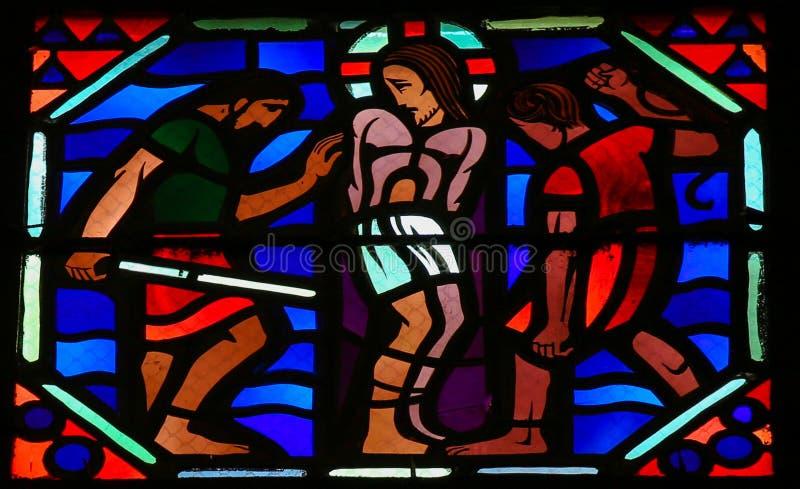 Folterung von Jesus an Karfreitag stockbild