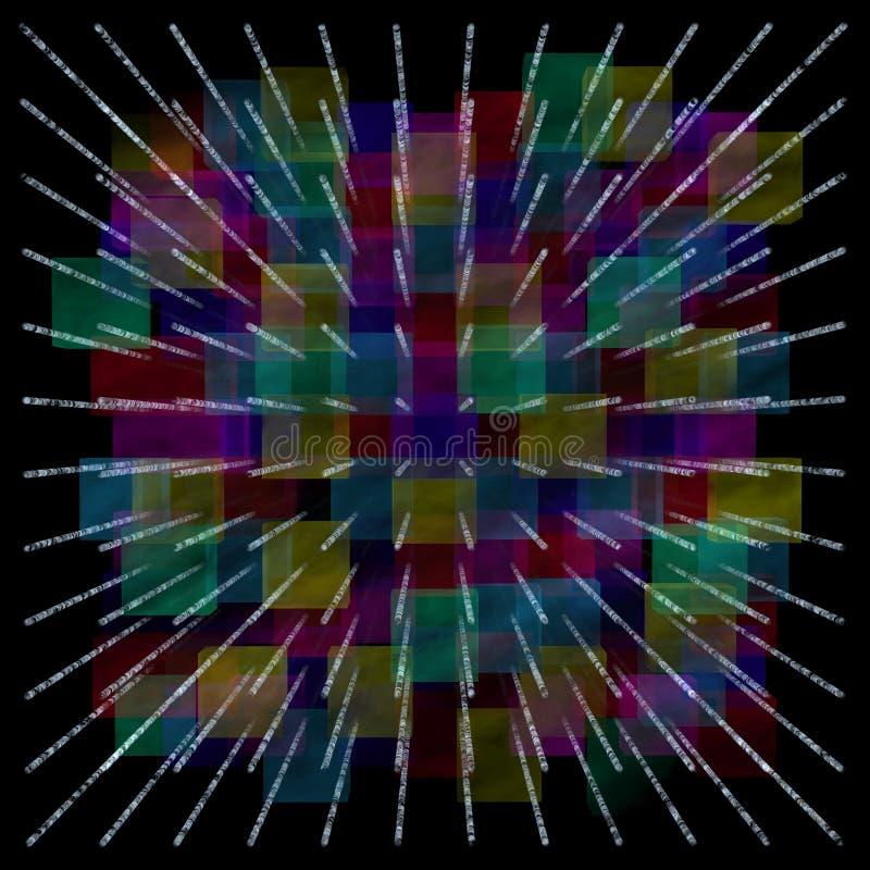 folujący tło abstrakcjonistyczny kolor royalty ilustracja
