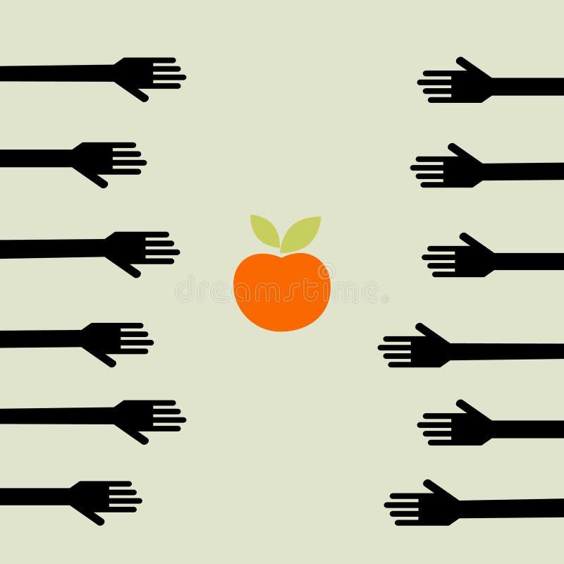 Fome ilustração royalty free