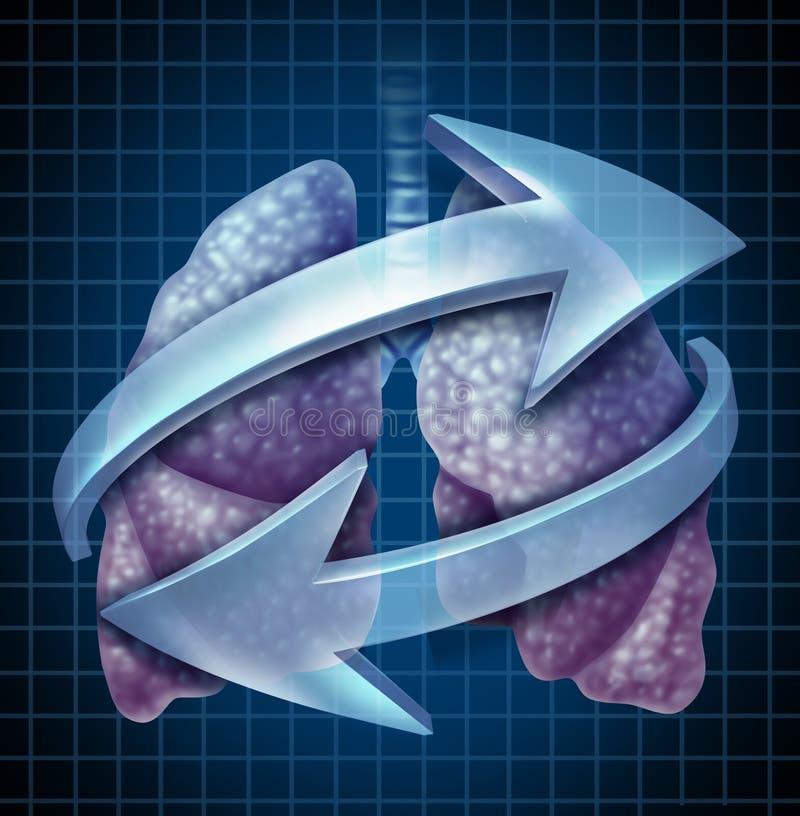 Fonction de respiration de corps de poumons illustration de vecteur