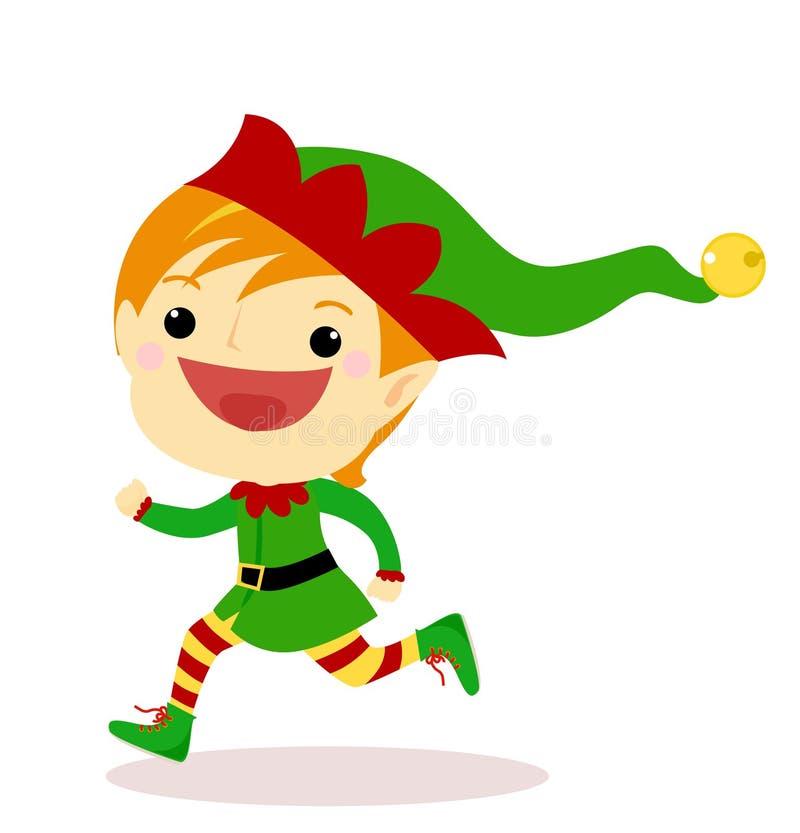 Fonctionnement d'elfe illustration stock