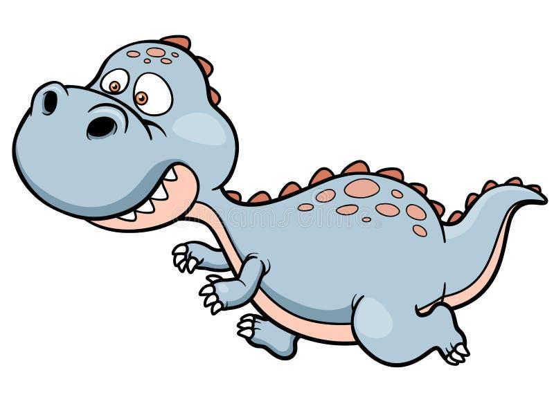 Fonctionnement de dinosaure de bande dessinée illustration libre de droits