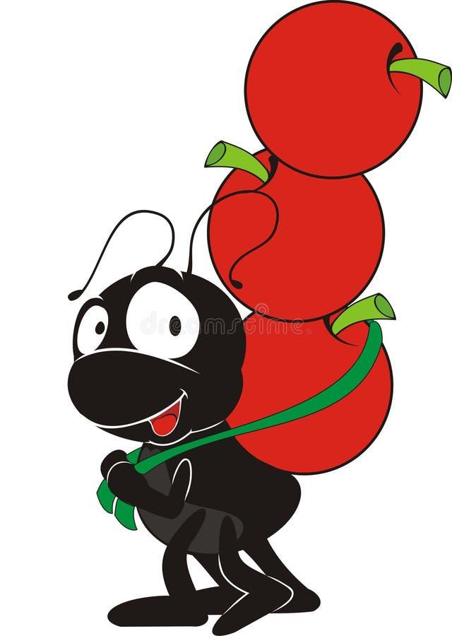 Fonctionnement de fourmi illustration de vecteur