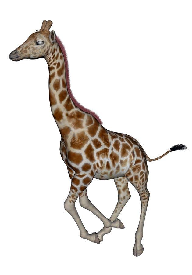 Fonctionnement de girafe illustration libre de droits