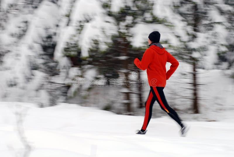 Fonctionnement de l'hiver images stock