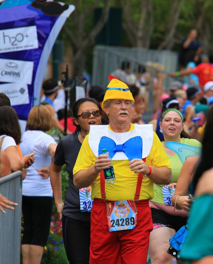 Fonctionnement de marathon de Disney photo libre de droits