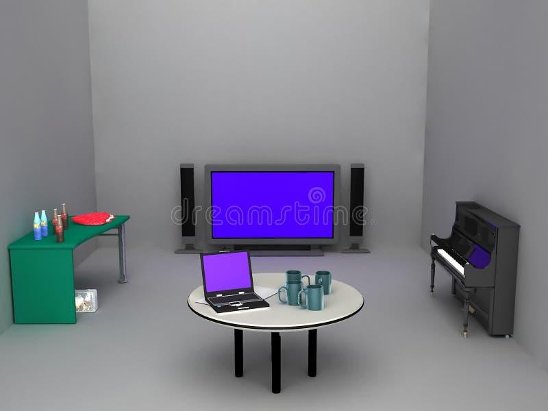 fonctionnement de salle de séjour illustration de vecteur