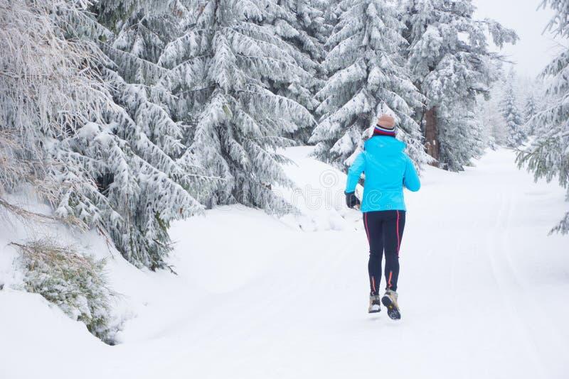 Fonctionnement en hiver images libres de droits