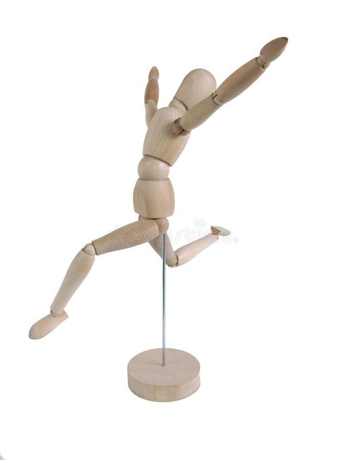 Fonctionnement modèle en bois miniature, joyeux photographie stock