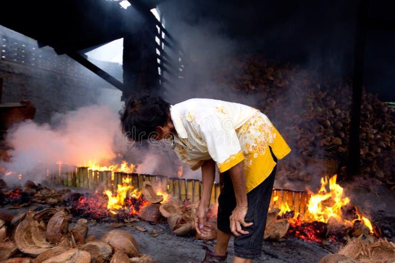 Fonctionnement thaïlandais d'oldman images stock