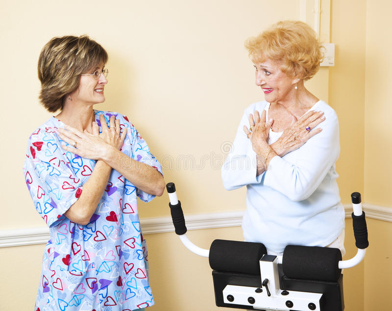 Fonctionner avec le thérapeute physique photos stock