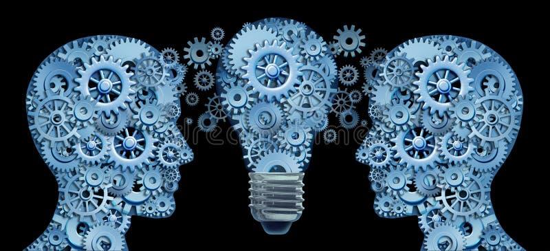Fonctionner ensemble en équipe pour l'innovation illustration libre de droits