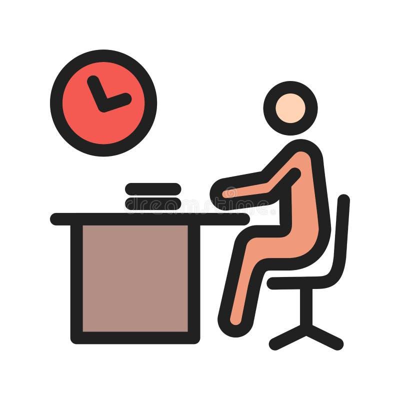 Fonctionner tard illustration stock
