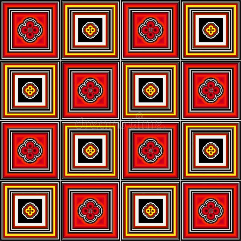 Fond à carreaux avec les places colorées illustration libre de droits