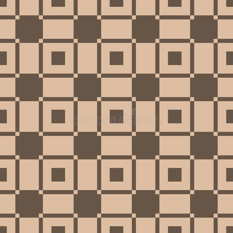 Fond à carreaux de tissu de plaid Configuration sans joint de Brown illustration stock