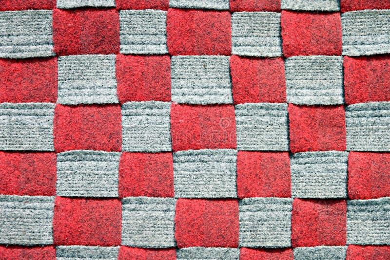 Fond à carreaux rouge. photo libre de droits