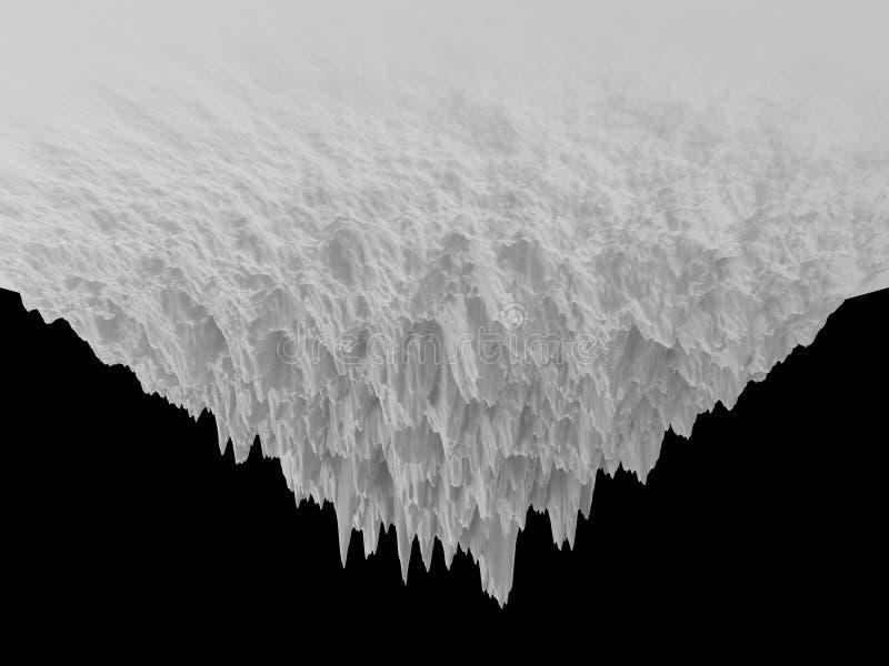 fond à l'envers abstrait blanc du paysage 3d illustration libre de droits