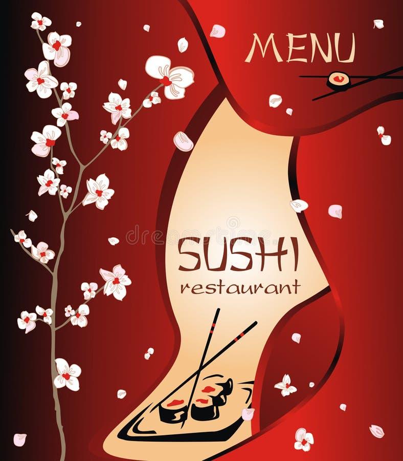 Fond à la mode de menu de restaurant à tout contemporain créatif illustration libre de droits