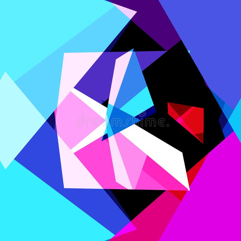 Fond à la mode géométrique multicolore de résumé illustration stock