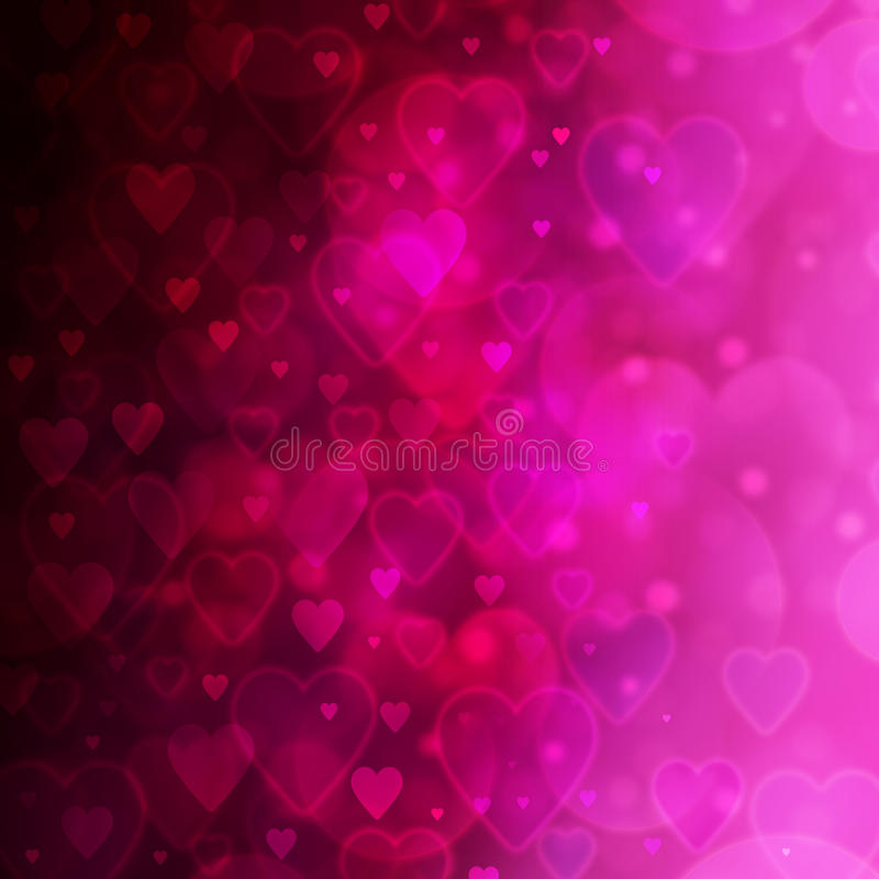 Fond à la Saint-Valentin illustration libre de droits