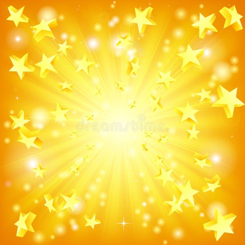 Fond éclatant d'étoiles illustration stock