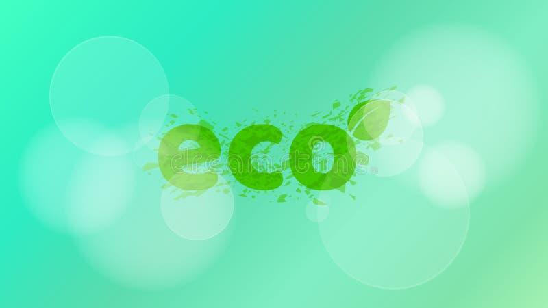 fond écologique Une inscription élégante dans le style de grunge Bokeh d'éclat Écologie et nature pures Illustration de vecteur illustration stock
