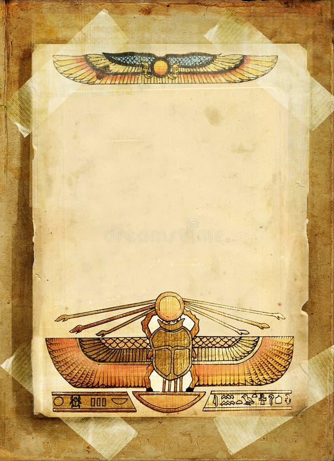 Fond égyptien illustration de vecteur
