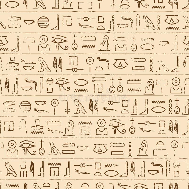 Fond égyptien de hiéroglyphes illustration stock