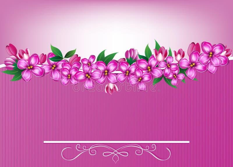 Fond élégant avec des fleurs de ressort illustration stock