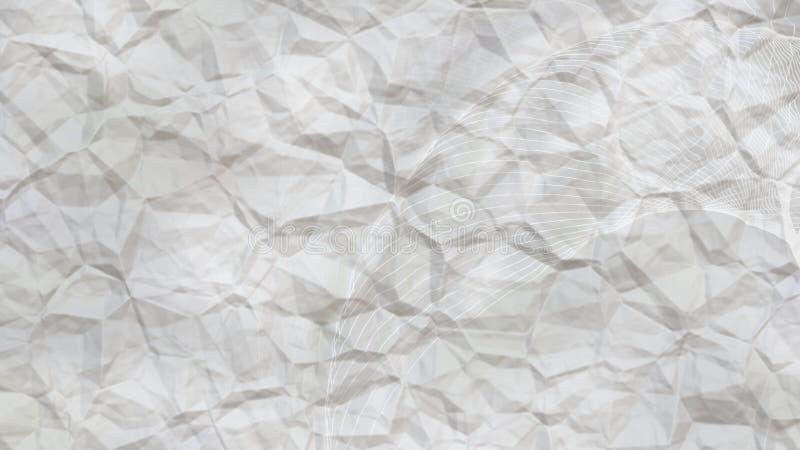Fond élégant clair de conception de l'industrie graphique d'illustration de Grey Wrinkled Paper Beautiful illustration de vecteur