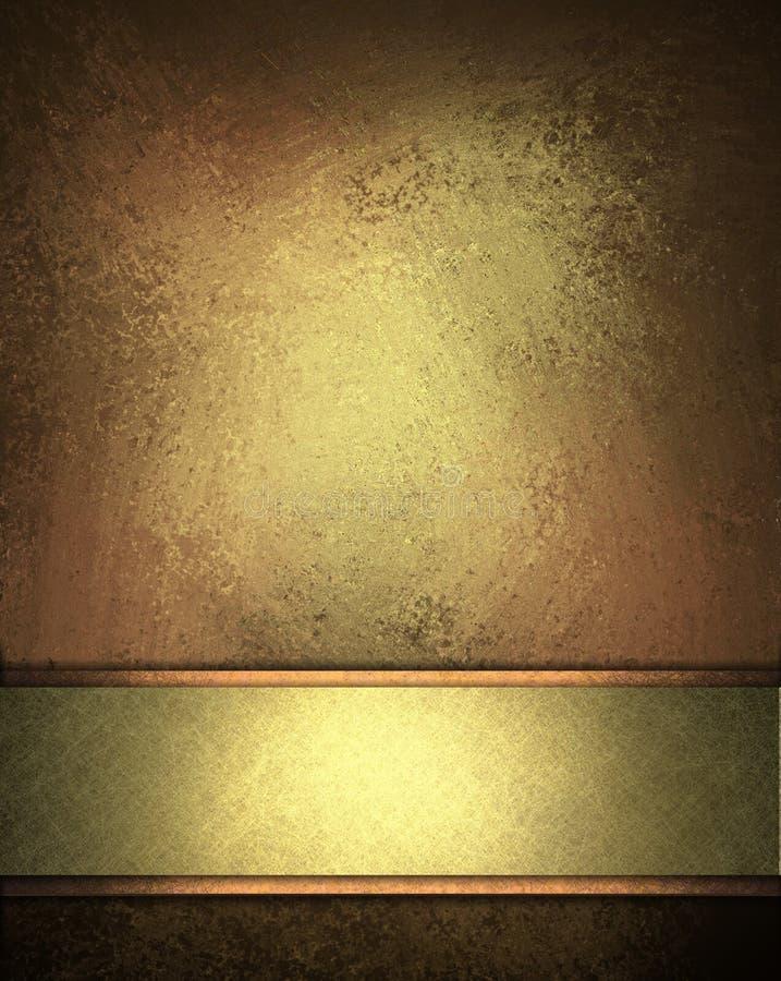 Fond élégant de brun d'or illustration libre de droits