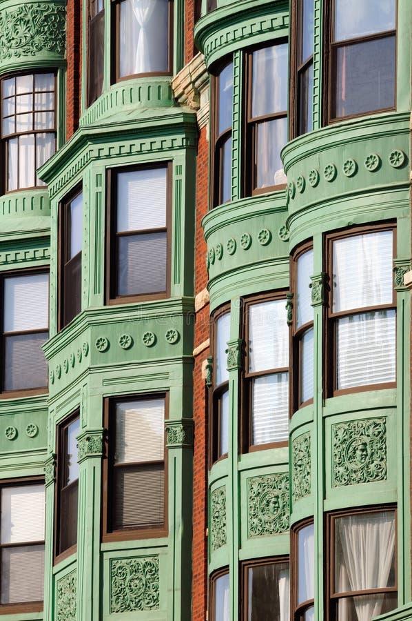 Fond élégant de fenêtre en saillie image stock
