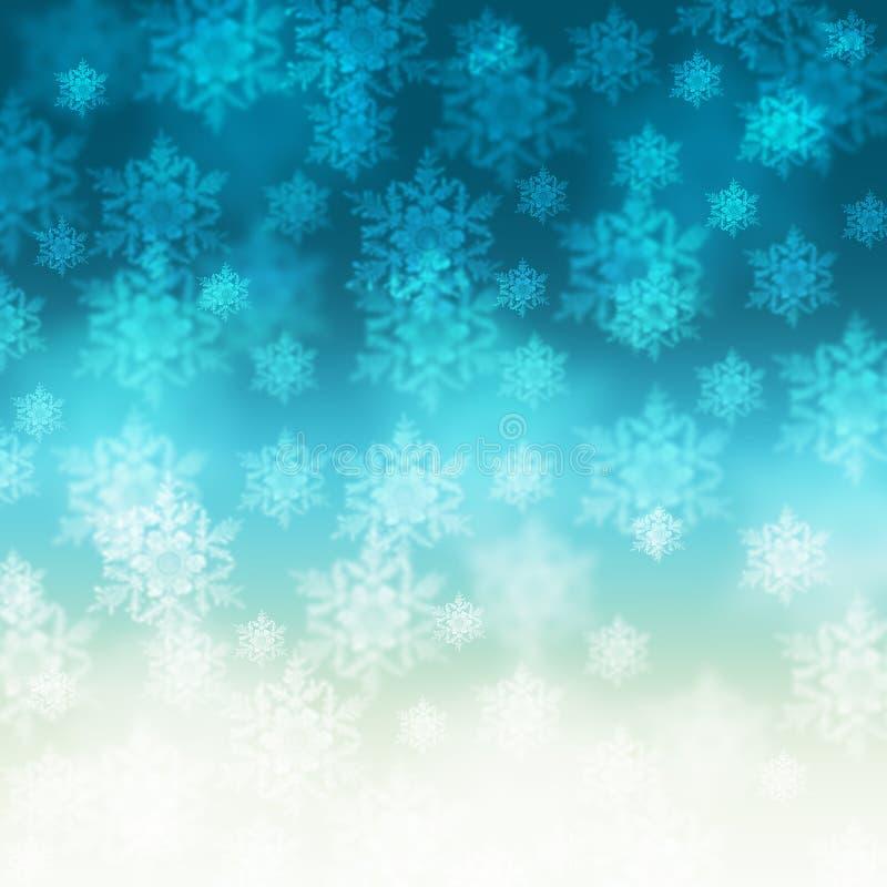 Fond élégant de Noël avec des flocons de neige photographie stock libre de droits