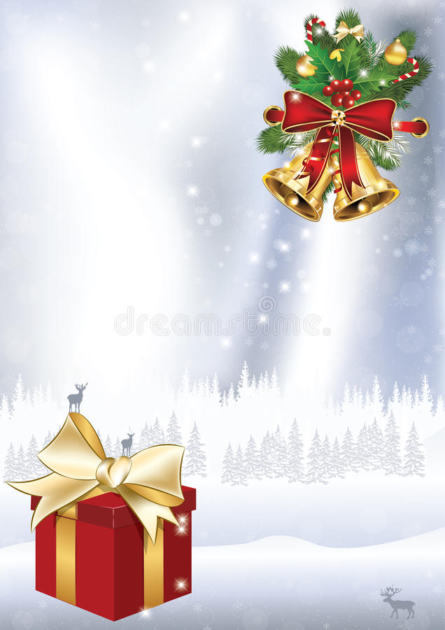 Fond élégant de vacances d'hiver illustration libre de droits