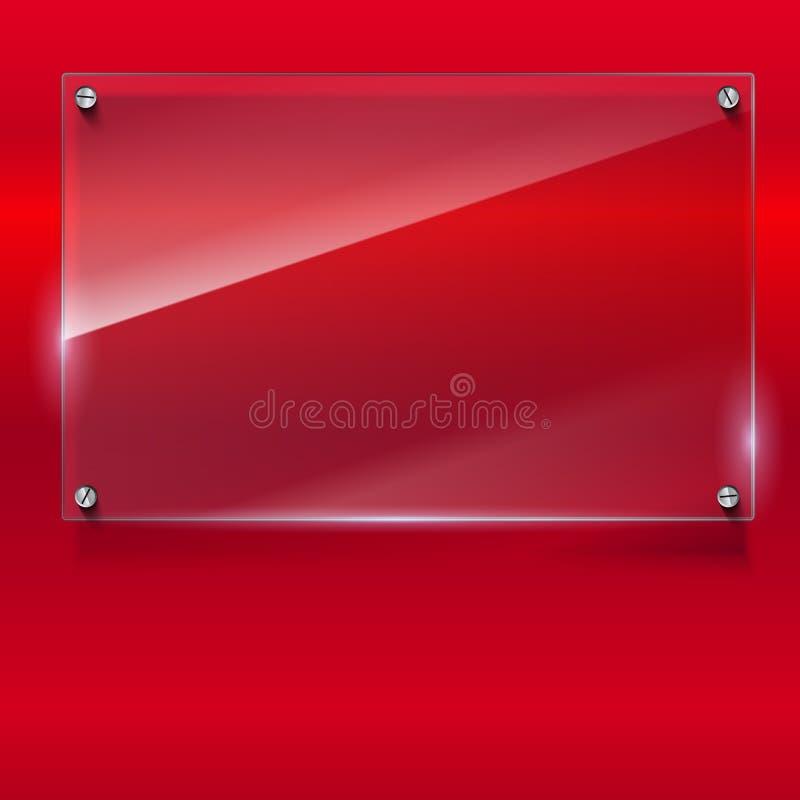 Fond élégant de vecteur avec la bannière en verre illustration libre de droits