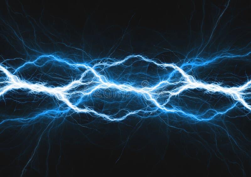Fond électrique abstrait, plasma bleu illustration stock