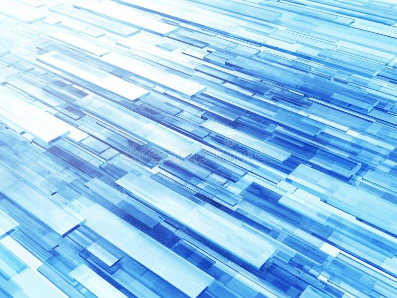 Fond électronique moderne virtuel de papier peint d'écoulement de Tecnology illustration libre de droits