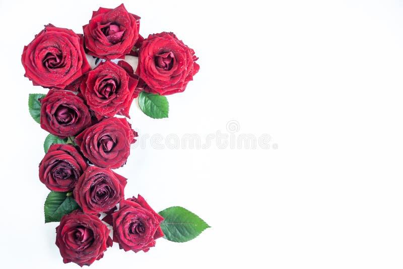 Fond étendu plat, modèle de fleur, Saint-Valentin, le thème des amants photos libres de droits