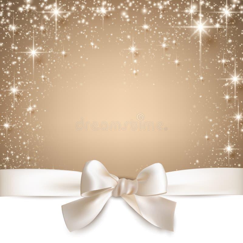 Fond étoilé beige de Noël. illustration libre de droits