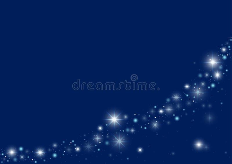 Fond étoilé bleu de Noël illustration de vecteur