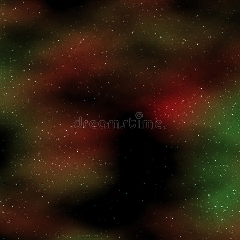 Fond étoilé d'espace extra-atmosphérique profond. illustration stock