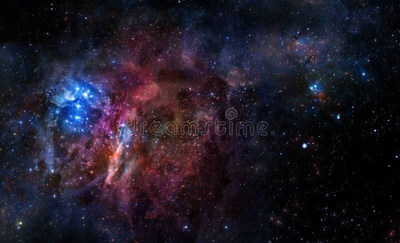 Fond étoilé d'espace extra-atmosphérique profond illustration de vecteur