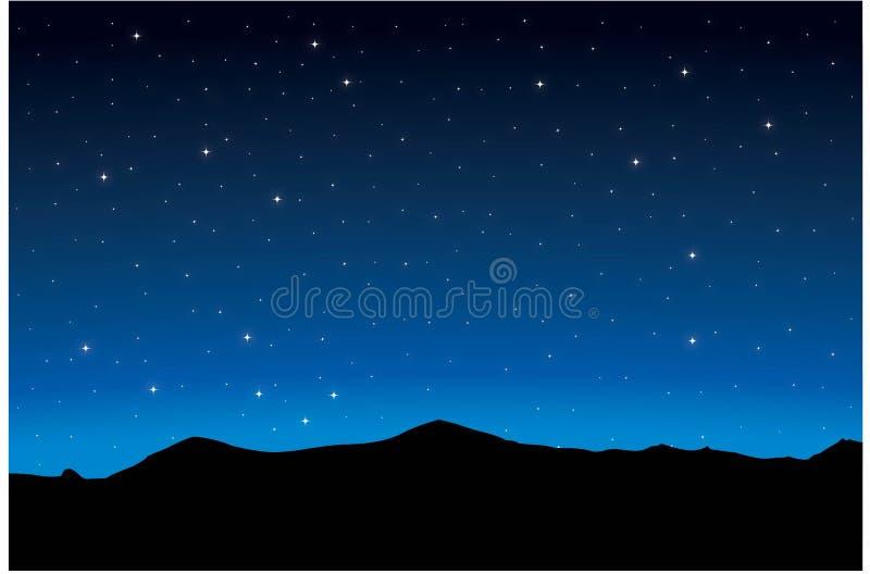 Fond étoilé de nuit illustration stock