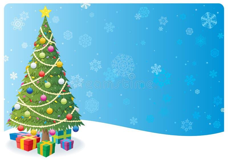 Fond 1 d'arbre de Noël illustration de vecteur