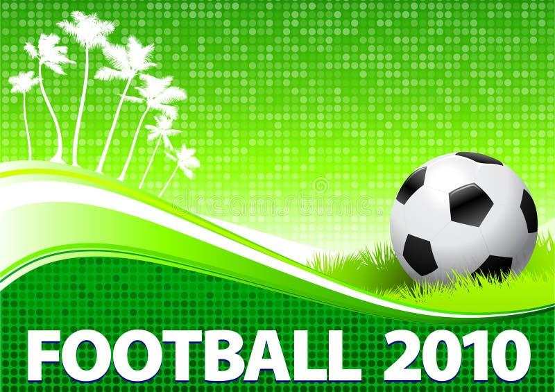 Fond 2010 vert tropical de l'OM de bille de football illustration libre de droits