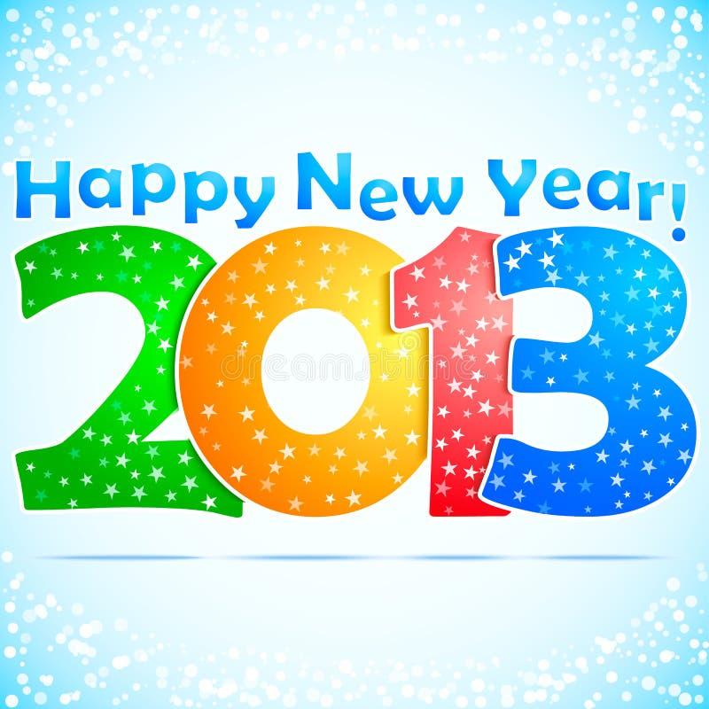 Fond 2013 d'an neuf heureux illustration libre de droits