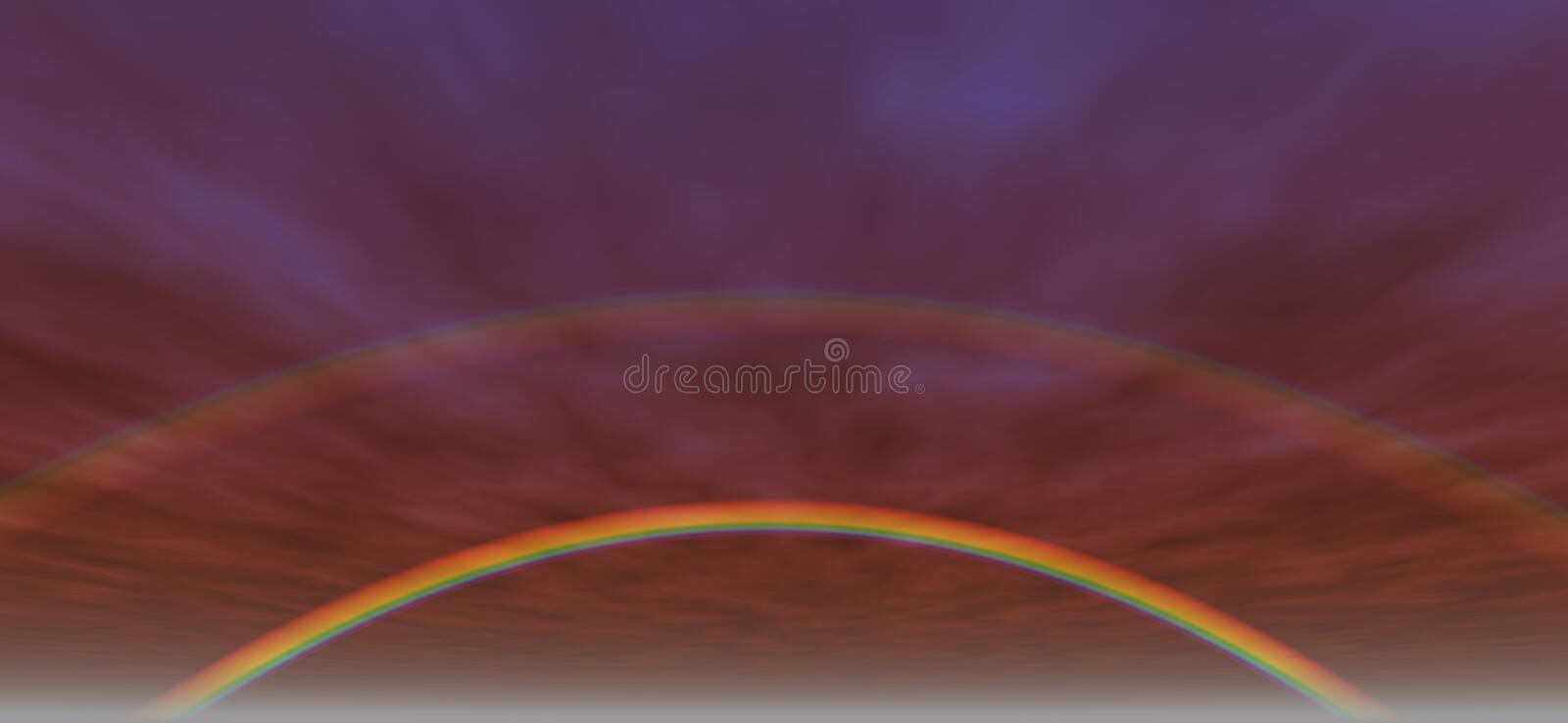 Fond 3 d'arc-en-ciel illustration libre de droits