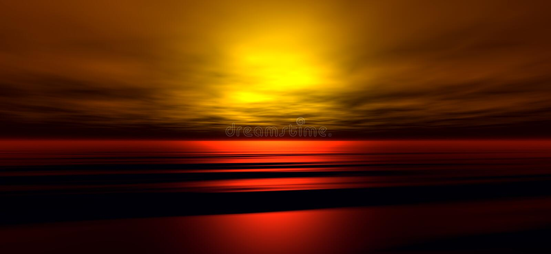 Fond 3 de coucher du soleil illustration libre de droits
