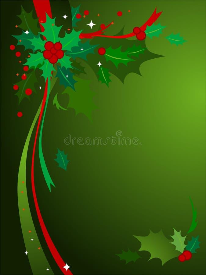 Fond #3 de houx de Noël illustration libre de droits