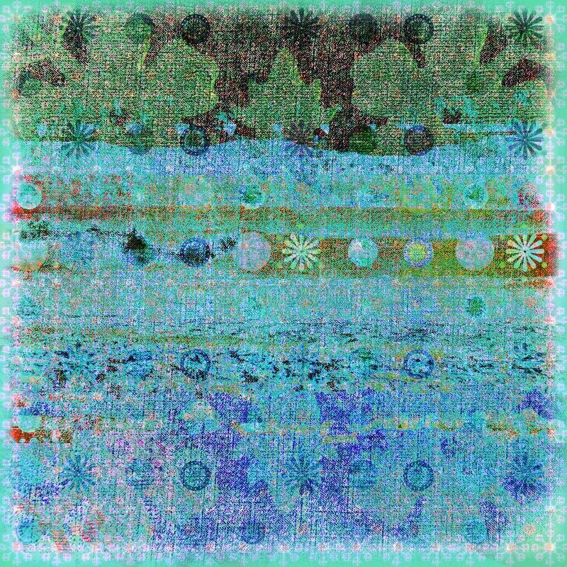 Fond 3 de vague déferlante de batik illustration stock